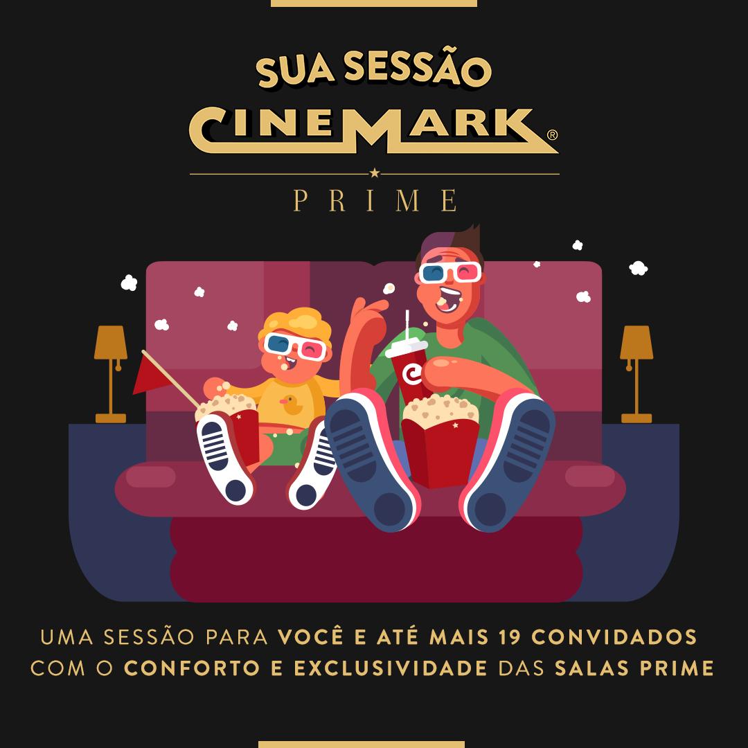 Cinemark do Shopping Cidade Jardim é primeiro com salas Prime a ter sessões privadas de cinema